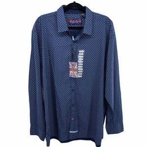 ENGLISH LAUNDRY Blue Print Button Lg Sleeve Shirt